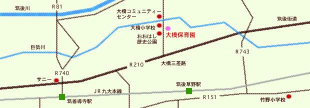 社会福祉法人コスモス会大橋保育園マップ
